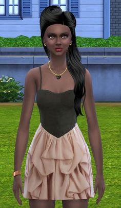 Ruffles dress at Simalicious via Sims 4 Updates
