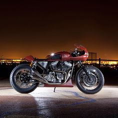 Probably the best Harley Cafe Racer I've ever seen.