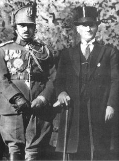 King Amanullah Khan of Afghanistan with the President of Turkey Ataturk. Pakistan, Ottoman Turks, Turkish Army, The Turk, Cultural Identity, Great Leaders, Ottoman Empire, Central Asia, Ways Of Seeing