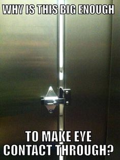 Why Is This Big Enough To Make Eye Contact Toilet Stall Funny Picture Dailyhaha Your Daily Dose Of Laughs