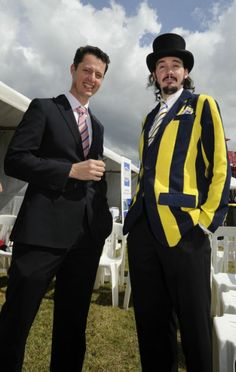 My very dapper son with his boss at the races.