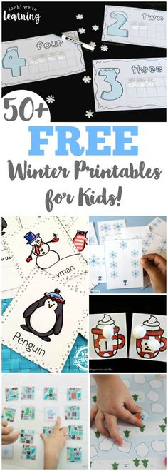 Keep learning all winter long with these fun and free winter printables for kids! #homeschooling #winteractivities #learning