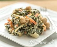 California Creamed Kale and Chickpeas Dr. Fuhrman's Nutritarian recipes