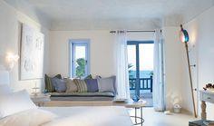 Villas of Mykonos Blue resort- an amazing wall light.