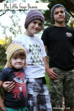 Vickie Howell | Blog: Free Pattern: My Little Guys Beanie! -- @Bernadette Tydlacka Yarns Sheep(ish) Stripes by Vickie Howell