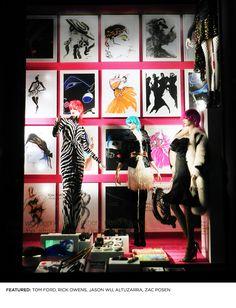 Celebrating Fashion Week: Tony Viramontes « Love the window display at Bergdorf's this week featuring 80's master artist, Tony Viramontes.