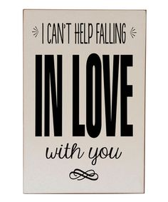 This Cream & Black 'Falling In Love' Wall Art by Vinyl Crafts is perfect! #zulilyfinds