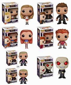 Buffy the Vampire Slayer Pop! Television Vinyl Figures by Funko - Buffy, Angel, Willow, Oz, Spike, Vampire Spike The Gentlemen...#AVeryWhedonHoliday