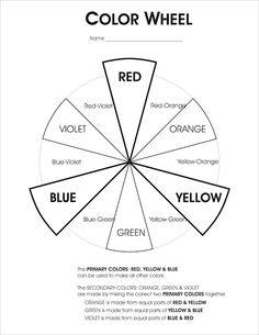 Color wheel worksheet