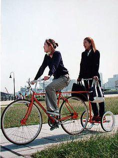 Bike trailer for standing passengers #bike #bicycle