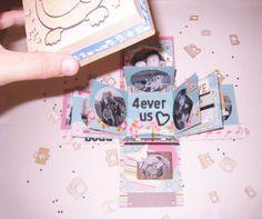 """TUTORIAL """"cómo hacer una exploding box"""" en http://curiosandru.com/2014/08/19/como-hacer-una-exploding-box/"""