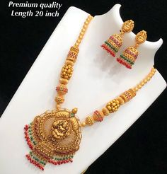 Temple Necklace with Gold Matte Finish – Necklace 2020 Gold Jhumka Earrings, Diamond Choker Necklace, Diamond Cross Necklaces, Pearl Necklace, Gold Jewelry Simple, Minimal Jewelry, Gold Jewellery, Temple Jewellery, Jewelry Design