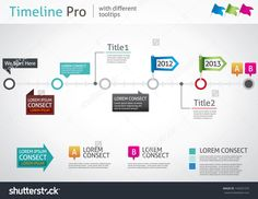 Timeline Pro - Different Tooltips - Vector Infographic - 143291275 : Shutterstock
