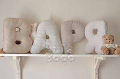 LulaBooo letter pillow - the name of a child, nursery ideas and decor
