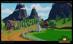 This is the Mickey Race section of the Disney Infinity Intro. I did all of the terrain modeling, texturing and population. I also designed the terrain layout for this level. Disney Infinity, 3d Artist, Country Life, Golf Courses, Layout, Projects, Painting, Design, Log Projects