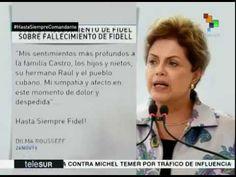 Ex-Presidenta DILMA ROUSSEFF lamenta a morte de FIDEL CASTRO.