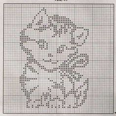 Cute kitty pattern for filet crochet or maybe double knitting. Stitch Crochet, Filet Crochet Charts, Knitting Charts, Knitting Stitches, Crochet Cat Pattern, Afghan Crochet Patterns, Crochet Motif, Loom Patterns, Funny Cross Stitch Patterns