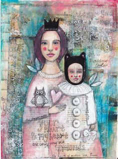 Mother and Daughter  Fine Art Print by willowing (Tamara Laporte)