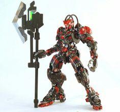 Custom build: 1/144 gundam barbatos [project noir]