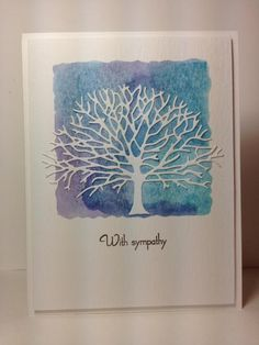 Branching out die: PB, distress inks on acrylic block/spritz,  by beesmom - Cards and Paper Crafts at Splitcoaststampers