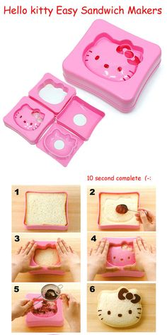 Hello kitty Easy Sandwich Maker Bread Mold Cutter