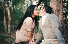 Forest engagement session/ Miami engagement photography by osleyphotography / wedding photography in south florida