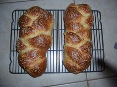 This recipe originally comes from Kosher by Design by Susie Fishbein. Ive been making this challah every week for the last two months, and it makes a delicious, rich challah. I dont use the bread machine method, making the dough in my Kenwood mixer and giving the final knead by hand, then braiding the challah and baking it in the oven. Im posting this as a bread machine recipe at the request of Miraklegirl. BTW, I dont use all the water called for in the recipe, I usually add a bit at a ...