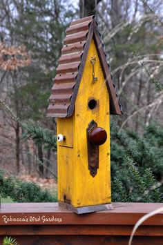 Rustic Birdhouse The Loft by RebeccasBirdGardens on Etsy