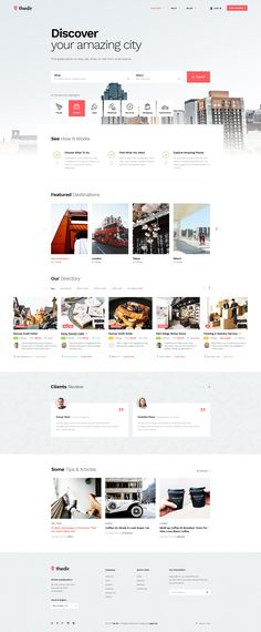 Are you having an idea about build a directory & listing website to help people can find things that interesting in your city?.    Thedir is evaluated a unique & modern PSD #webdesign #uidesign #psd