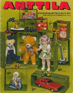 Anttilan joululahjaluettelo 1971, got the teddy from my good mother and I still have it. It's a bit bald...