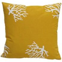 """Coral Yellow 18"""" Square Outdoor Throw Pillow"""