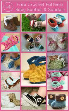 14 Free Crochet Baby Bootie Patterns | FiberArtsy.com