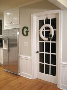 French door to basement in bedroom on pinterest 29 pins - Cat door for hollow core door ...