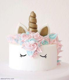 DIY Gâteau d'Anniversaire Licorne - apprendre à faire ce gâteaux magnifique pour un goûter d'anniversaire fille! C'est super facile et ludique! by BirdsParty.fr @BirdsParty