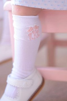 0ba758421 Items similar to Monogram Knee High Socks - Children s Knee High Socks - Toddler girl - Monogrammed Socks - Toddler Knee Highs - Monogrammed  Children s Socks ...