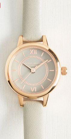Grey and rose gold wristwatch