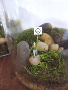 All We are Saying...Terrarium Accessory Miniature by FaerieNest, $15.95
