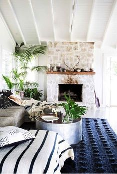 Five tips for creating a Hamptons-style home Boho Home :: Beach Boho Chic :: Living Space Dream Home :: Interior + Outdoor :: Decor + Design :: Free your Wild :: Bohemian Home Style Inspiration Coastal Living Rooms, Home And Living, Living Room Decor, Living Spaces, Cozy Living, Living Area, Bedroom Decor, Hamptons Style Homes, Hamptons House