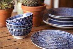 Assiette creuse porcelaine bleue d co marocaine orientale oranjade brunc - Maison porcelaine maroc ...
