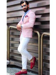 Men's Notch Lapel Slim Fit Cheap Priced Designer Fashion Dress Casual Blazer On Sale Pink Blazer Pink Blazer Men, Pink Suit Men, Pink Blazer Outfits, Casual Blazer, Pink Blazers, Dress Casual, Mens Fashion Blazer, Latest Mens Fashion, Suit Fashion