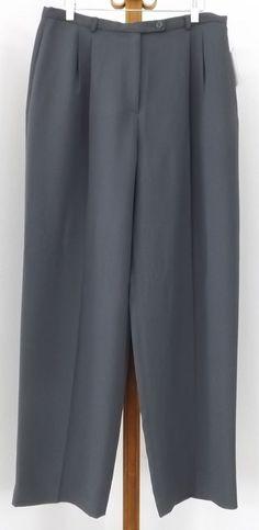 Worthington Dress Pants Size 16 NEW Charcoal Dark Gray Lightweight Womens #Worthington #DressPants
