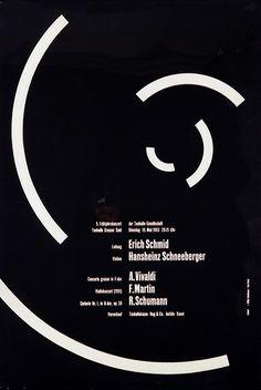 Schmid, Schneeberger - Vivaldi, Martin, Schumann: Josef Muller-Brockmann, 1953