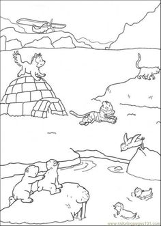 polar arctic animals coloring pages - Arctic Colouring Pages