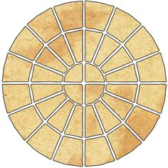 Abbey Original Ancestry Circle Paving Pack Pack of m² - B&Q for all your home and garden supplies and advice on all the latest DIY trends Hard Landscaping Ideas, Patio Ideas, Garden Ideas, Patio Kits, Paver Patterns, Circular Patio, Paver Designs, Circular Pattern, Garden Supplies