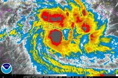 Satellite image of Cyclone Ita moving towards Queensland due Friday.