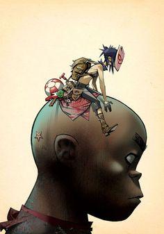 Image result for 2d gorillaz tattoo cigarette sailor hat