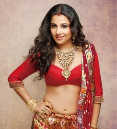 Vidya Balan as an Indian Bride for Hi! Blitz Magazine in red lenga and gold jewelry