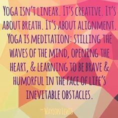 Yoga isn& linear. It& creative. It& about breath. It& about alignment. Yoga is meditation: Stilling the waves of the mind, opening the heart, and learning to be brave and humorful in the face of life& inevitable obstacles. Meditation Mantra, Mindfulness Meditation, Quick Weight Loss Tips, How To Lose Weight Fast, Reduce Weight, Yoga Inspiration, Yoga Bolster, Sup Yoga, Fit Girl