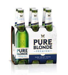 Pure Blonde beer Packaging
