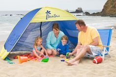 Shade Shack Instant Pop Up Family Beach Tent and Sun Shelter. Enjoy a day at the beach with less sun exposure risk for you and your kiddos! Baby Beach Tent, Baby Tent, Pop Up Beach Tent, Beach Canopy, Backyard Canopy, Pop Up Tent, Canopy Outdoor, Outdoor Fun, Tent Canopy